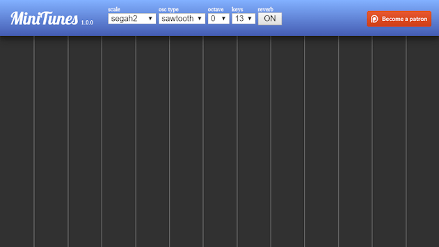 Mini Tunes - Microtonal Synthesizer for Android APK screenshot 1