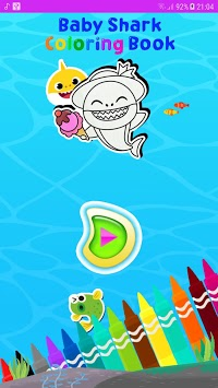 Baby Shark coloring book APK screenshot 1