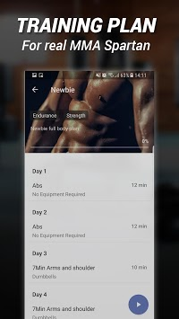 MMA Spartan System Gym Workouts & Exercises Free APK screenshot 1