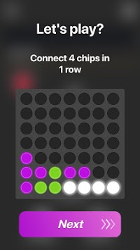 4 in a row remake - Mono4 puzzle game APK screenshot 1