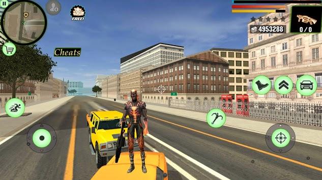 Super Flame Ninja Hero - Strange Gangster Vegas APK screenshot 1