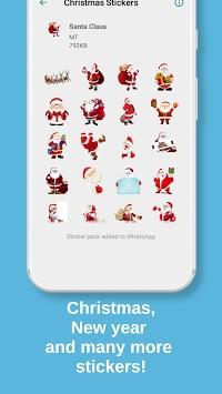 Christmas Stickers for WhatsApp, WAStickerApps APK screenshot 1