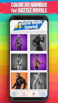 Battle Royale Coloring - Color by Number Coloring APK screenshot 1