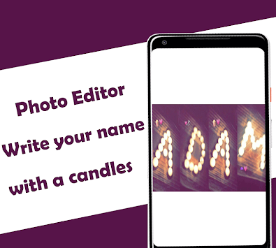 Photo Editor : Write your name with a candles APK screenshot 1