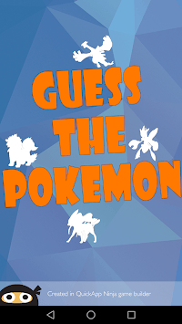 Guess The Pokemon Name - Shadow Quiz APK screenshot 1