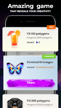 Low Poly - Color Puzzle by Number Art Game APK screenshot 1