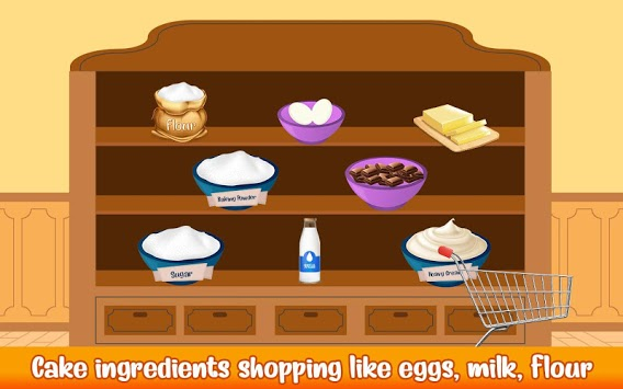 Cake Bakery Shop - Sweet Cooking, Color by Number APK screenshot 1