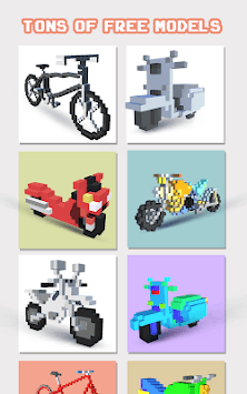 Bikes 3D Color by Number - Voxel Vehicles Coloring APK screenshot 1