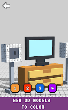 House Interior 3D Color by Number - Voxel Coloring APK screenshot 1