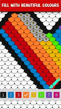 Sequin Art - Color by Number, Coloring Book Pages APK screenshot 1