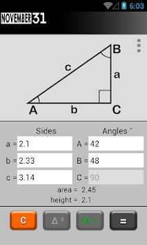 Triangle Calculator APK screenshot 1