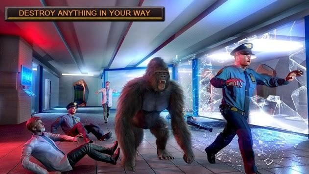 Monster Gorilla Rampage Apes Family Simulator APK screenshot 1