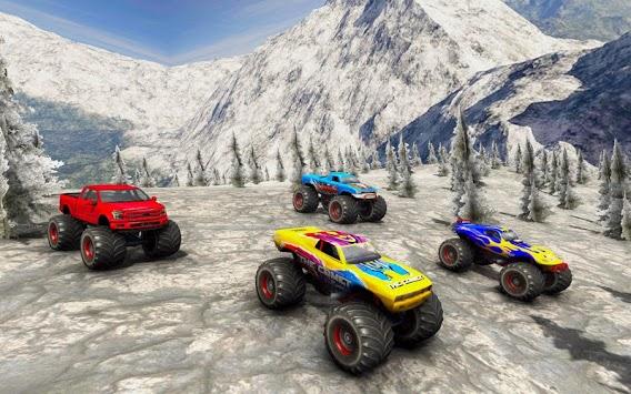 Monster Truck Desert Death Race 3D: Truck Game APK screenshot 1