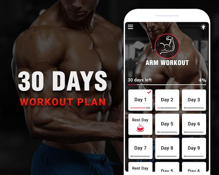 Arm Workouts - Strong Biceps in 30 Days at Home APK screenshot 1