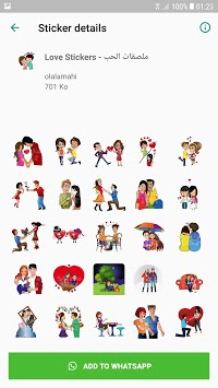 Love Stickers - WAStickerApps APK screenshot 1