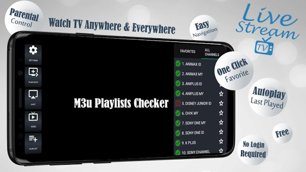 Livestream TV - M3U Stream Player IPTV APK screenshot 1