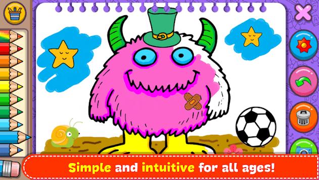 Monsters - Coloring Book & Games for Kids APK screenshot 1
