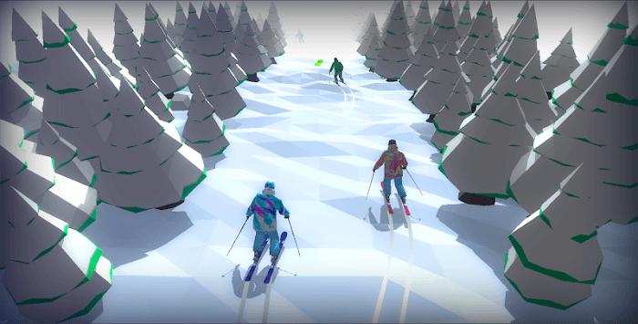 Racing in Mountain Ski 2019: Top Hill Skiing Racer APK screenshot 1