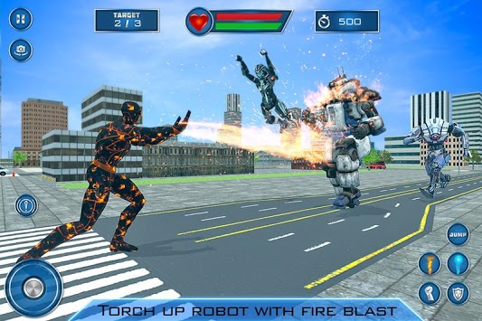Super Flame Hero City Survival Mission APK screenshot 1
