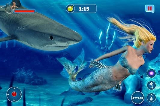 Mermaid Simulator: Underwater & Beach Adventure APK screenshot 1