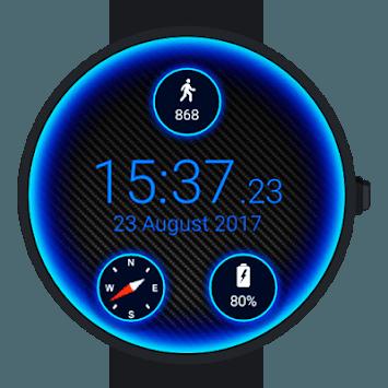 Carbon Neon Watch Face APK screenshot 1