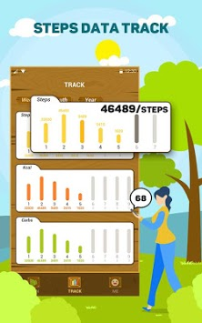 PlantsOasis - Step Counter & Calorie Counter APK screenshot 1