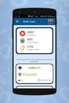 Math Cash - Solve and Earn Rewards APK screenshot 1