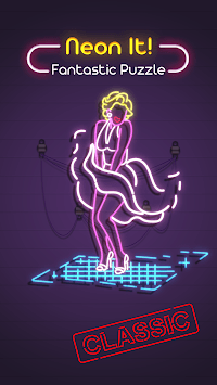 Neon It! - 3D Light Art Puzzle APK screenshot 1