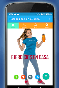 Pierde peso en 30 días, ejercicios en casa Gratis APK screenshot 1
