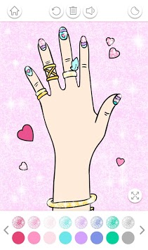 Nail Art Color – Glitter Girls Coloring Book APK screenshot 1