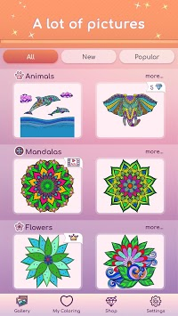 Premium Coloring Book - color by number, coloring APK screenshot 1