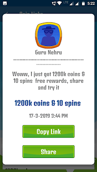 Daily Rewards : free coin and spin daily post APK screenshot 1