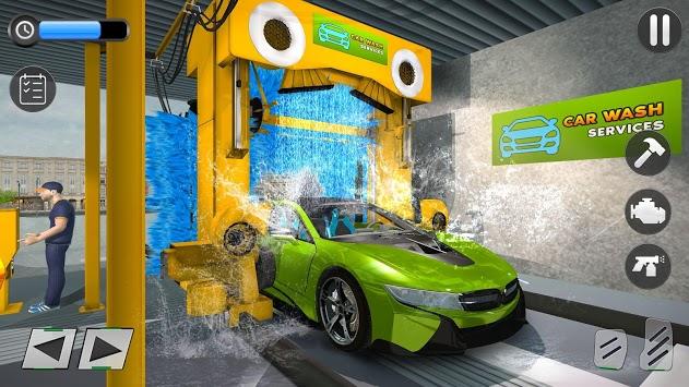 Modern Car Wash Gas Station: Real Car Mechanic APK screenshot 1