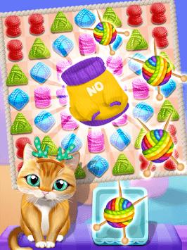 Meow Knitting Match APK screenshot 1