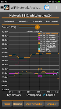 WiFi Analyzer APK screenshot 1