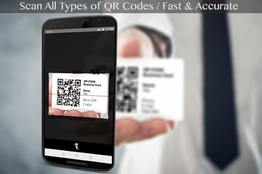 QR code scanner - QR code reader APK screenshot 1