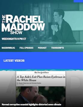 MSNBC Rachel Maddow Live APK screenshot 1