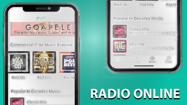 free tunein radio and tune in fm radio /nfl APK screenshot 1