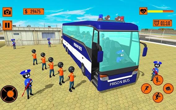 Real Stickman Prison Transport APK screenshot 1