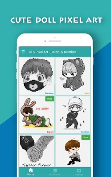 Doll Pixel Art - Color by Number APK screenshot 1