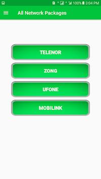 All Network Packages Pakistan 2018: APK screenshot 1