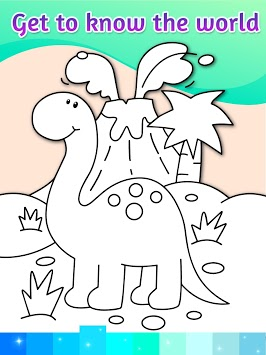 Coloring Pages Kids Games with Animation Effects APK screenshot 1