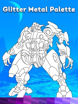 Robots Coloring Pages with Animated Effects APK screenshot 1