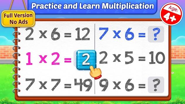 Multiplication Kids - Math Multiplication Tables APK screenshot 1