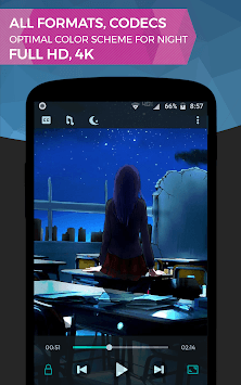 Night Video Player APK screenshot 1