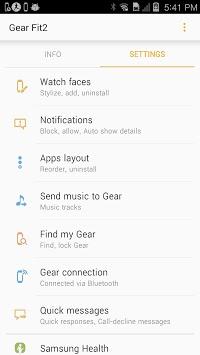 Gear Fit2 Plugin APK screenshot 1