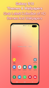 Themes for samsung S10: S10 launcher and wallpaper APK screenshot 1