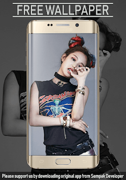 Jennie Kim Blackpink Wallpaper KPOP Fans HD APK screenshot 1