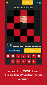 Wrestling WWE Quiz — Guess Wrestler Trivia — Women APK screenshot 1