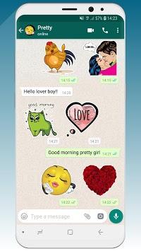 💚 WhatsLov: love stickers (WAStickerApps) APK screenshot 1